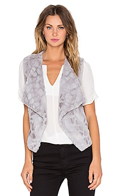 BB Dakota Jack by BB Dakota Darko Faux Fur Vest in Silver Grey