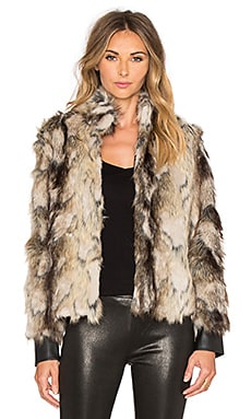 BB Dakota Jack by BB Dakota Tempest Faux Fur Coat in Multi