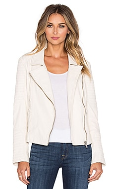 BB Dakota Elias Leather Moto Jacket in Vanilla