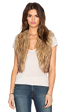 BB Dakota Jack by BB Dakota Azza Faux Fur Cropped Vest in Multi