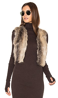 Jack By BB Dakota Loree Faux Fur Vest en Imprimé