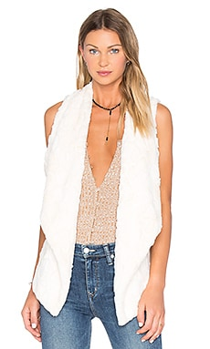 Jack By BB Dakota Cordova Faux Fur Vest in Ivory