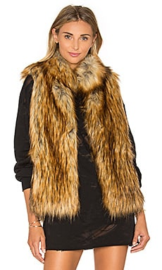 Colton Faux Fur Vest in Red Fox