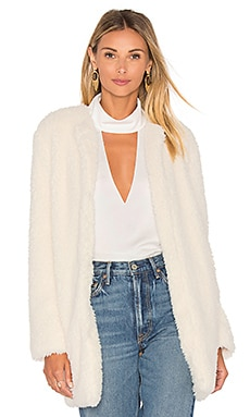 Merrill Faux Fur Jacket en Ivory