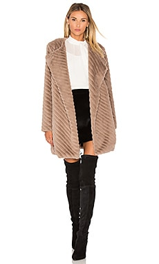Winsford Faux Fur Jacket in Camel