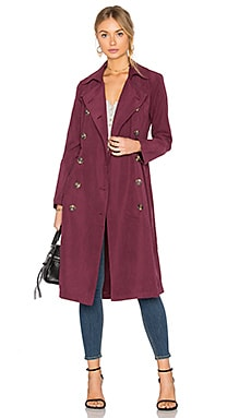 Jack By BB Dakota Wellington Coat in Dark Plum