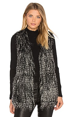 Jack By BB Dakota Agneta Faux Fur Vest in Black