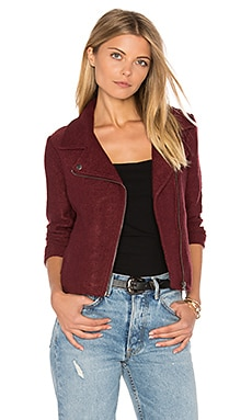 Jack By BB Dakota Reyna Moto Jacket en Rouge Cramoisi