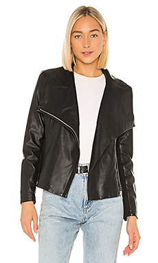 Up To Speed Vegan Leather Jacket BB Dakota $55