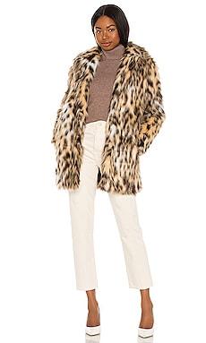 Be Here Meow Faux Fur Coat BB Dakota by Steve Madden $60