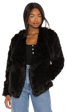 Shag Race Faux Fur Jacket BB Dakota by Steve Madden $92