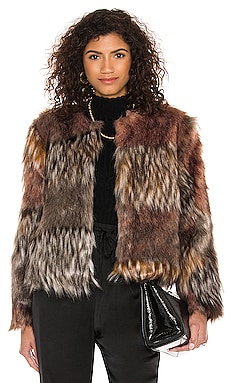 Patch My Drift Faux Fur Jacket BB Dakota by Steve Madden $52