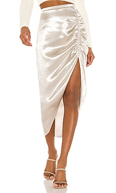 Shiny Dancer Ruched Skirt BB Dakota $88