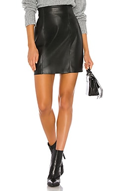 Girl Crush Vegan Leather Skirt BB Dakota $59