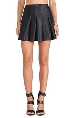 BB Dakota Nynette Faux Leather Skirt in Black