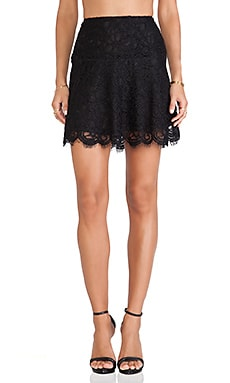 BB Dakota Kingsling Lace Skirt in Black