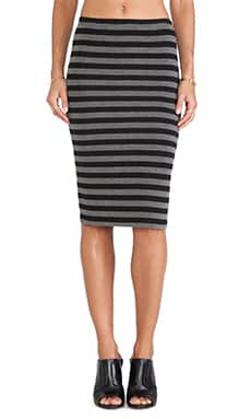 BB Dakota Raquelyn Stripe Skirt in Black