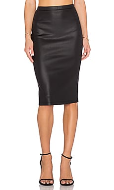 Kelan Snakeskin Pencil Skirt in Black