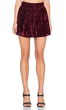 Jack by BB Dakota Cavalier Skirt in Merlot Burgundy
