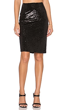 Josie Sequin Skirt in Black