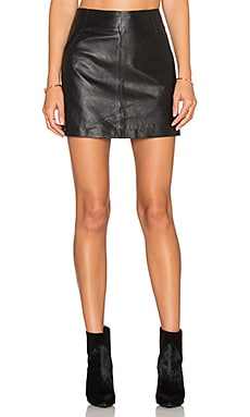 BB Dakota Ian Leather Mini Skirt in Black