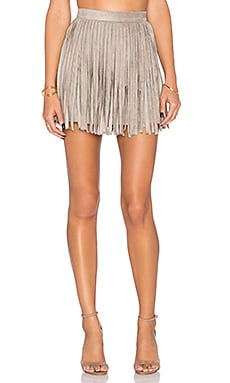 BB Dakota Pearl Fringe Skirt in Toffee