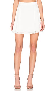 BB Dakota Rose Mini Skirt in White