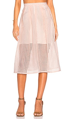 Jack by BB Dakota Clarice Midi Skirt in Light Peach