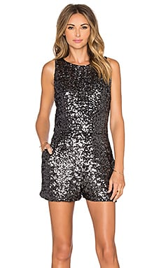 BB Dakota Callan Sequin Romper in Grey