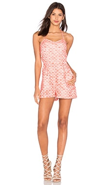 Jack By BB Dakota Adale Romper in Hot Coral