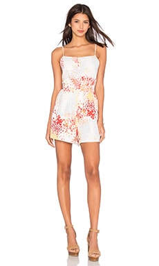 Jack By BB Dakota Floris Romper in Ivory