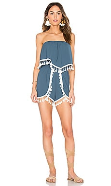 Faith Romper in Cornflower Blue