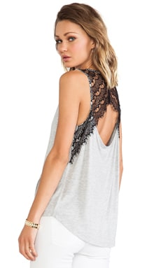 Mindy Lace Tank in Heather Grey