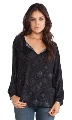 BB Dakota Cleta Printed Top in Black
