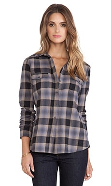 BB Dakota Collective Daisy Plaid Flannel Shirt in Black