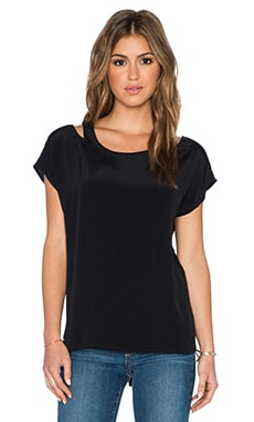 BB Dakota Ginger Cut Out Shoulder Top in Black