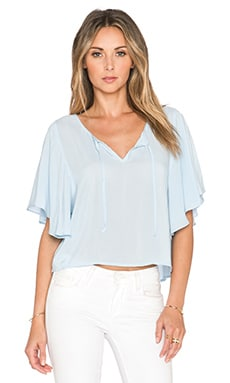 Jack by BB Dakota Sinclair Top in Sunbleached Blue