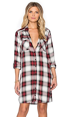 Jack by BB Dakota Brielle Button Up Flannel Dress in Multi