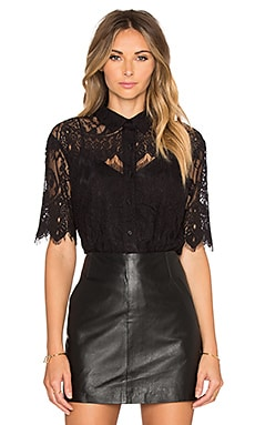 BB Dakota Serena Button Up in Black