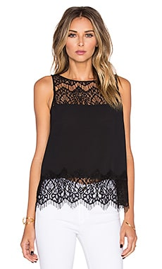 BB Dakota Eunice Lace Tank in Black