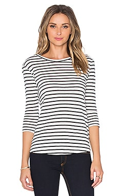 BB Dakota Neva Stripe Tee in Black
