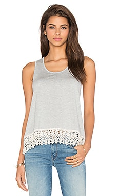 Jack by BB Dakota Rosetta Tank in Light Heathered Grey