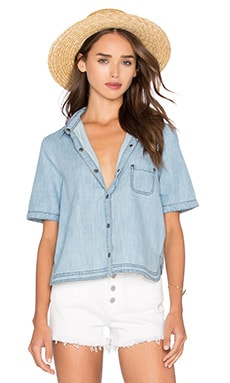 BB Dakota Jack By BB Dakota Ferrara Top en Medium Wash Chambray