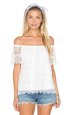 Polly Top in White