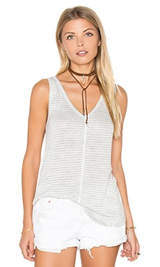 Tia Tank Top en Gris Clair Chiné