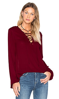 Jack By BB Dakota Eddingham Top in Brandy Wine