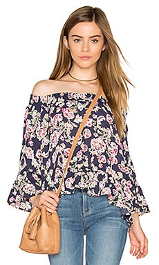 Jack By BB Dakota Nicolai Blouse in Navy