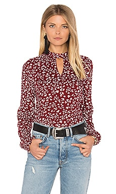 Jack By BB Dakota Aheesha Blouse in Burnt Red