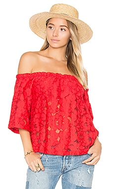 Jack by BB Dakota Oregano Top in Rococo Red