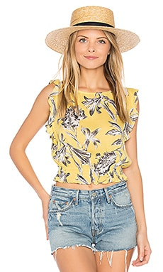 Hallie Top en Jaune